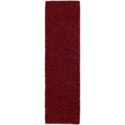 Mchaney Hand-TuftedRed Area Rug Rug Size: Runner 23 x 8