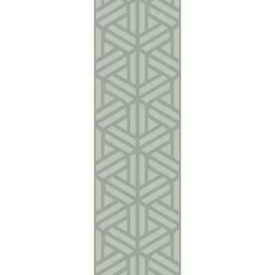 Mcnulty Hand-Loomed Gray Area Rug Rug Size: Runner 26 x 8
