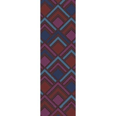 Mcgray Hand-Tufted Purple/Blue Area Rug Rug Size: Runner 26 x 8