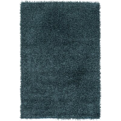 Mchaney Hand-Tufted Teal/Black Area Rug Rug Size: Rectangle 5 x 76