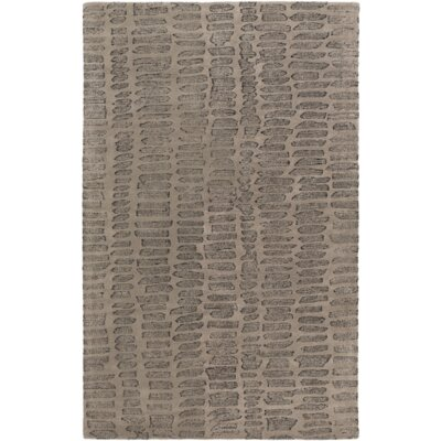 Mcnelly Gray & Charcoal Area Rug Rug Size: 5 x 76