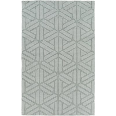 Mcnulty Hand-Loomed Gray Area Rug Rug Size: Rectangle 5 x 8