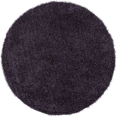 Mchaney Hand-Tufted Purple Area Rug Rug Size: Round 8