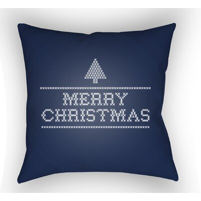 Merry Christmas III Indoor/Outdoor Throw Pillow Size: 18 H x 18 W x 4 D, Color: Neutral