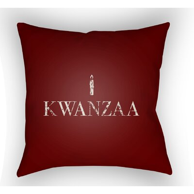 Massie Kwanzaa Indoor/Outdoor Throw Pillow Color: Red, Size: 20 H x 20 W x 4 D