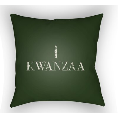 Massie Kwanzaa Indoor/Outdoor Throw Pillow Size: 18 H x 18 W x 4 D, Color: Green