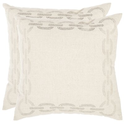 Woodward 100% Cotton Throw Pillow Size: 18 x 18, Color: Cement