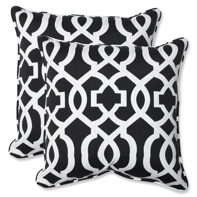 Stark Outdoor Throw Pillow Fabric: Black / White