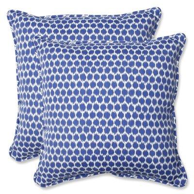Eris Indoor/Outdoor Throw Pillow Fabric: Navy