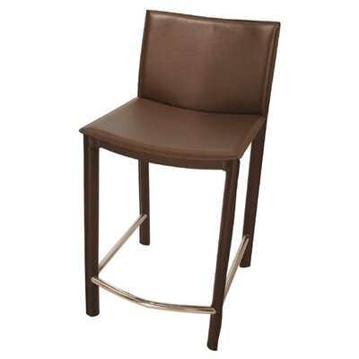 Berggren 24 Bar Stool Upholstery: Brown