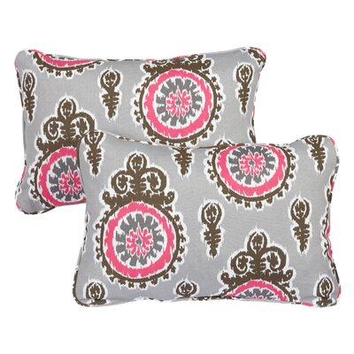 Haldeman Corded Indoor/Outdoor Lumbar Pillow Fabric: Vintage Pink