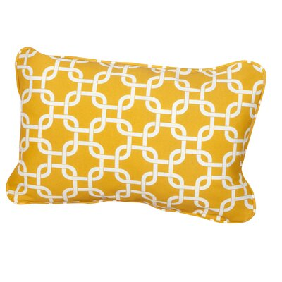 Hahne Corded Indoor/Outdoor Lumbar Pillow Fabric: Knotted Yellow