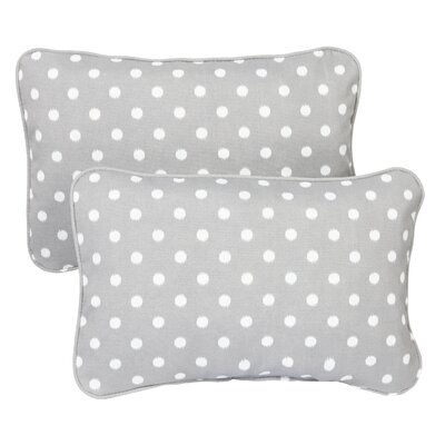 Hagood Corded Indoor/Outdoor Lumbar Pillow Fabric: Dots Grey