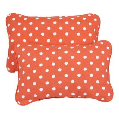 Hagood Corded Indoor/Outdoor Lumbar Pillow Fabric: Dots Orange