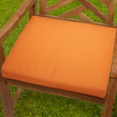 Mcneill Outdoor Dining Chair Cushion Fabric: Tangerine, Size: 20