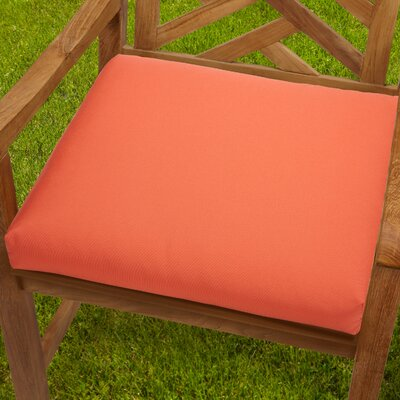 Mcneill Outdoor Dining Chair Cushion Fabric: Melon, Size: 20