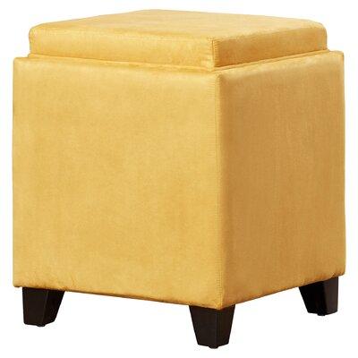 Nicholson Cube Storage Ottoman Upholstery: Yellow
