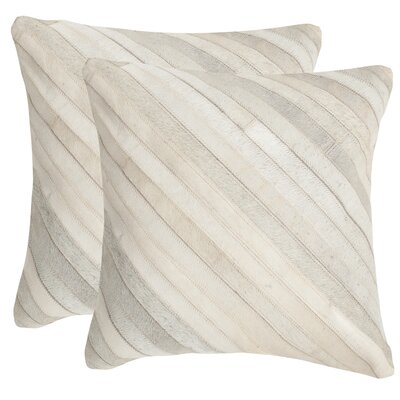 Whitchurch Feather Throw Pillow Size: 18 H x 18 W, Color: White