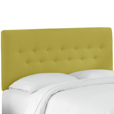 Whiteway Button Tufted Panel Headboard Size: Queen, Upholstery: Duck Leaf
