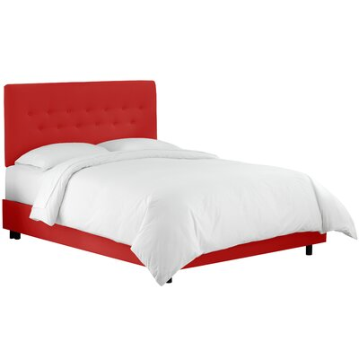 Whiteway Upholstered Panel Bed Size: King, Upholstery: Duck Red