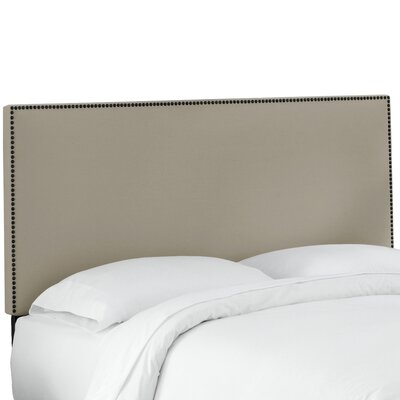 Whiteway Nail Button Border Upholstered Panel Headboard Size: Queen, Upholstery: Duck Grey