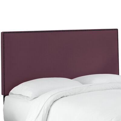 Whiteway Nail Button Border Upholstered Panel Headboard Size: Twin, Upholstery: Duck Red