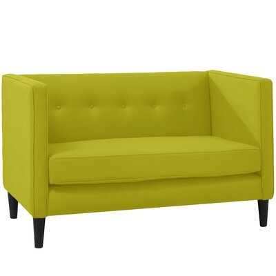 Whiteway Five Button Chesterfield Settee Upholstery: Leaf