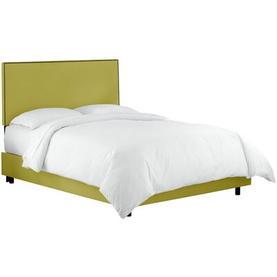 Whiteway Upholstered Panel Bed Size: Queen, Color: Duck Leaf