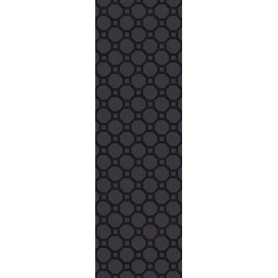 Wrington Hand-Woven Black Area Rug Rug Size: Runner 2'6
