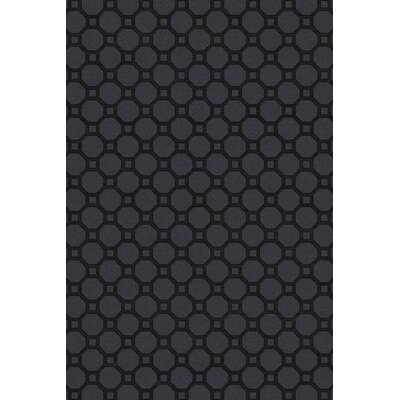 Wrington Hand-Woven Black Area Rug Rug Size: 5 x 76