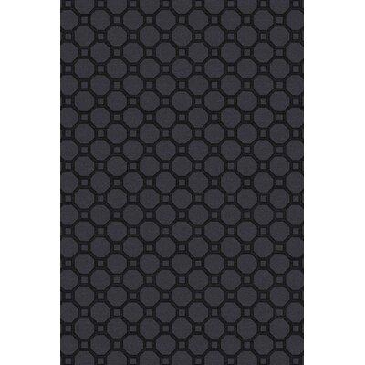 Wrington Hand-Woven Black Area Rug Rug Size: 6 x 9