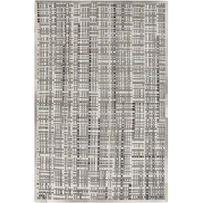 Woollard Hand-Woven Gray Area Rug Rug Size: Rectangle 2' x 3'