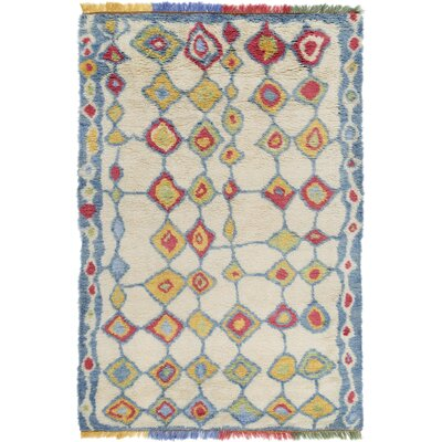 Withyditch Hand Knotted Beige Area Rug Rug Size: 8 x 10