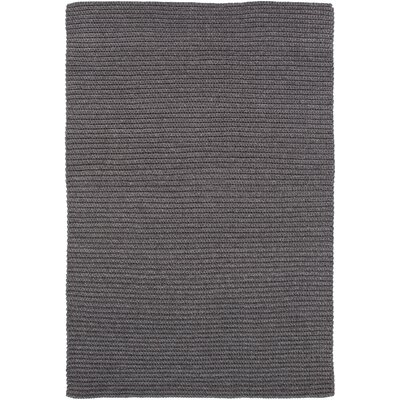 Woolverton Hand Woven Gray Indoor/Outdoor Area Rug Rug Size: 4 x 6