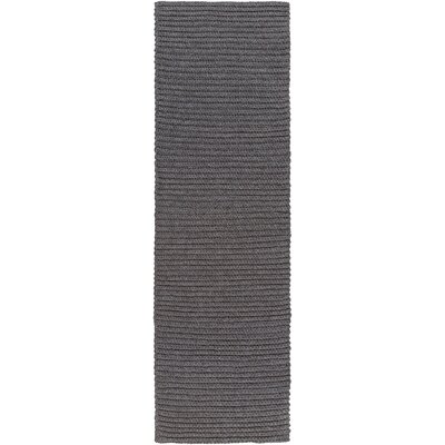 Woolverton Hand Woven Gray Indoor/Outdoor Area Rug Rug Size: Runner 26 x 8