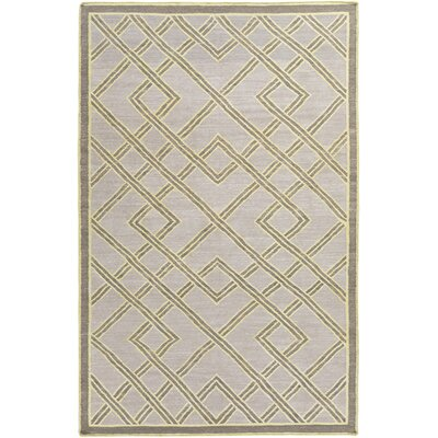 Mare Hand Woven Gray Area Rug Rug Size: 5 x 76