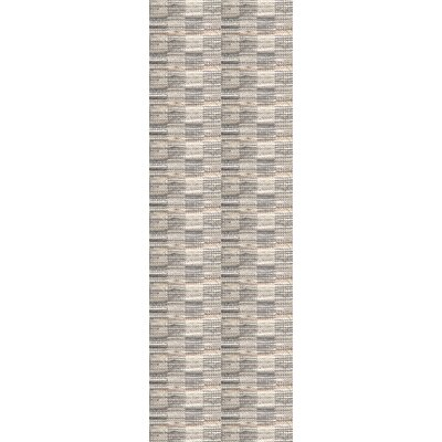 Goggins Hand Woven Gray Area Rug Rug Size: Runner 26 x 8