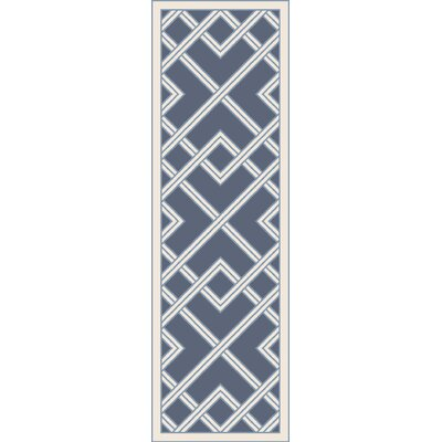 Mare Hand Woven Blue Area Rug Rug Size: Runner 26 x 8