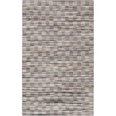 Hand Woven Brown/Gray Area Rug Rug Size: 8 x 10