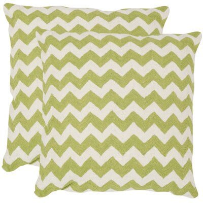Jeramiah 100% Cotton Throw Pillow Size: 18 H x 18 W x 2.5 D, Color: Lime / Green