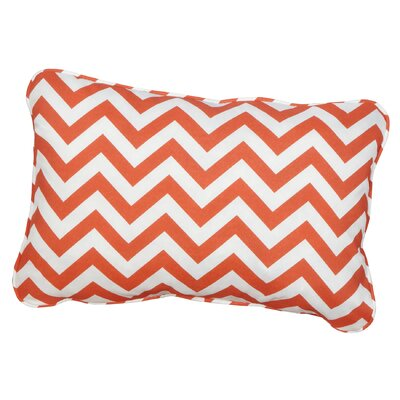 Hagler Corded Indoor/Outdoor Lumbar Pillow Fabric: Chevron Orange