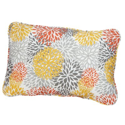 Hales Corded Indoor/Outdoor Lumbar Pillow Fabric: Bloom Tango