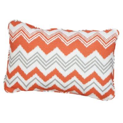 Haile Corded Indoor/Outdoor Lumbar Pillow Fabric: Zazzle Tango