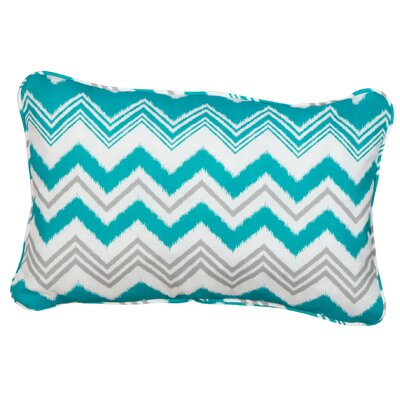 Haile Corded Indoor/Outdoor Lumbar Pillow Fabric: Zazzle Tropic