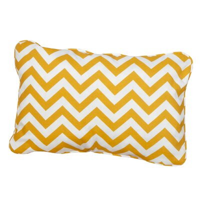Hagler Corded Indoor/Outdoor Lumbar Pillow Fabric: Chevron Yellow