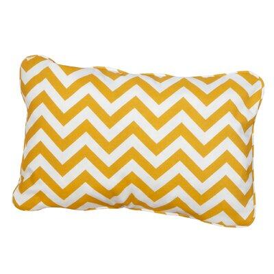 Hagler Corded Indoor/Outdoor Lumbar Pillow Fabric: Chevron Yellow