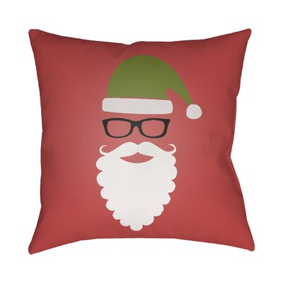 Cool Santa Indoor/Outdoor Throw Pillow Size: 18 H x 18 W x 4 D, Color: Red / Green / Black / White