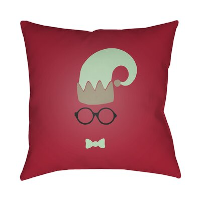 Graphic Print Indoor/Outdoor Throw Pillow Size: 18 H x 18 W x 4 D, Color: Red / Green