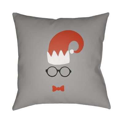 Graphic Print Indoor/Outdoor Throw Pillow Size: 20 H x 20 W x 4 D, Color: Gray / Red / White
