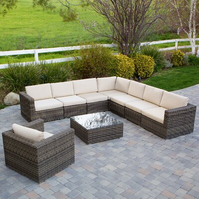 Hanning 9 Piece Deep Seating Group with Cushion
